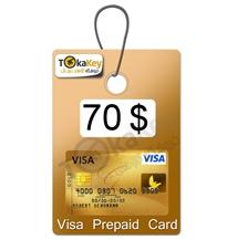 ویزا کارت مجازی 70 دلاری