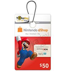 گیفت کارت 50 دلاری نینتندو Nintendo E-Shop