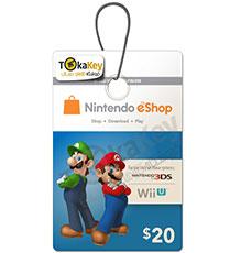 گیفت کارت 20 دلاری نینتندو Nintendo E-Shop