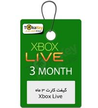گیفت کارت Xbox live Gold سه ماه