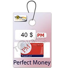 کارت شارژ (ووچر) 40  دلاری پرفکت مانی