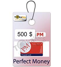 کارت شارژ (ووچر) 500 دلاری پرفکت مانی