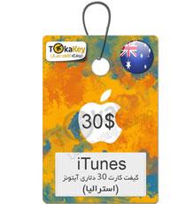گیفت کارت 30 دلاری آیتونز استرالیا