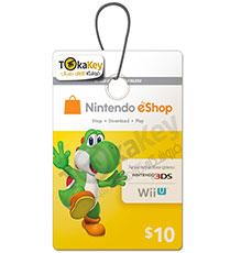 گیفت کارت 10دلاری نینتندو Nintendo E-Shop