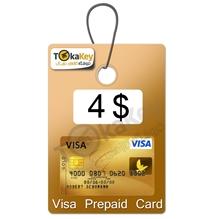 ویزا کارت مجازی 4 دلاری ارویا