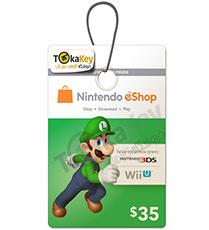 گیفت کارت 35 دلاری نینتندو Nintendo E-Shop
